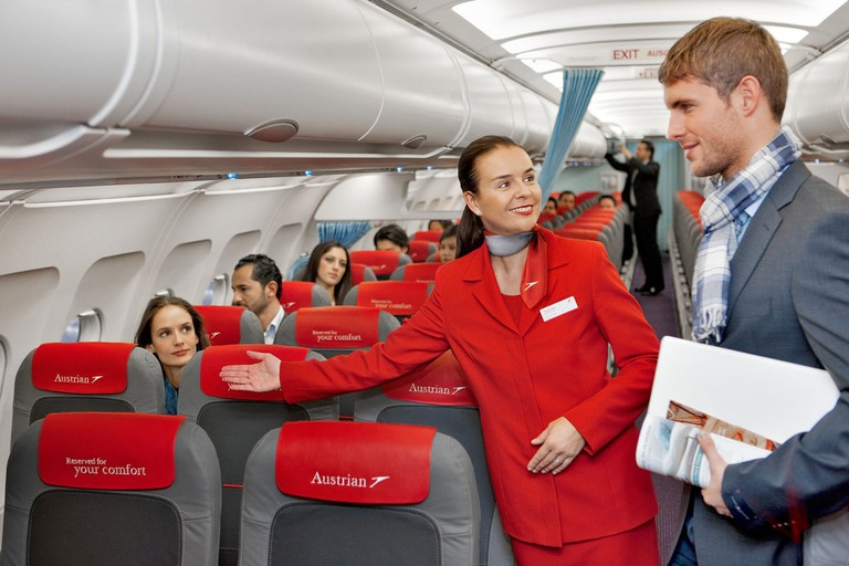 Air stewards really are there to help   © Austrian Airlines / Flickr