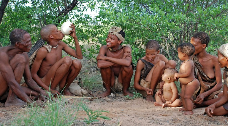 Traditional Khoisan famil