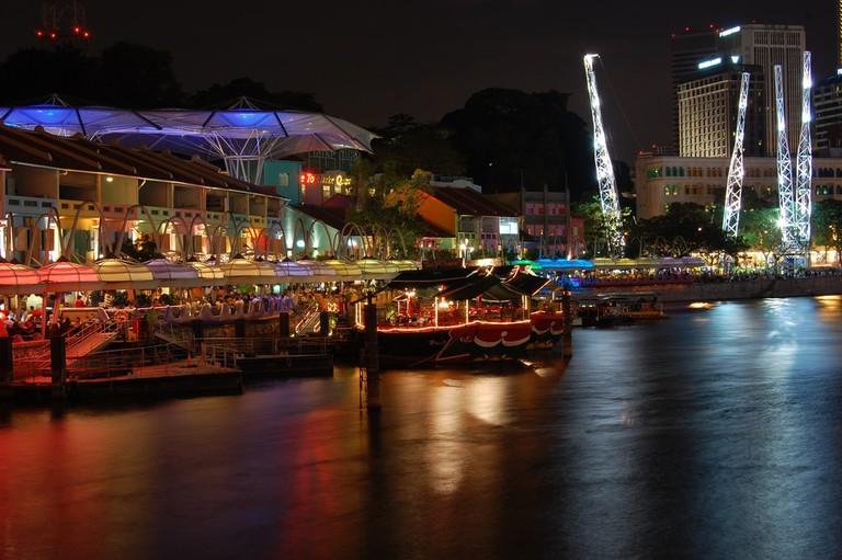 Clarke Quay along Singapore River