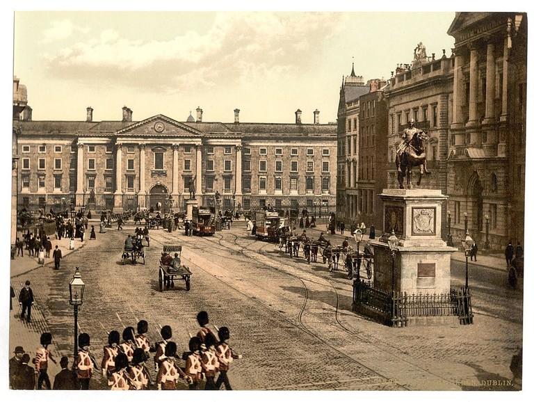 College Green, Dublin, circa 1890