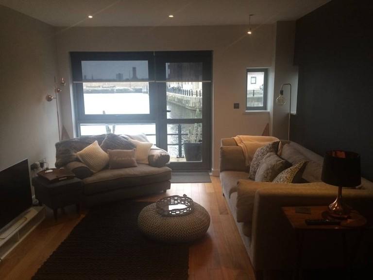 Luxury waterfront apartment
