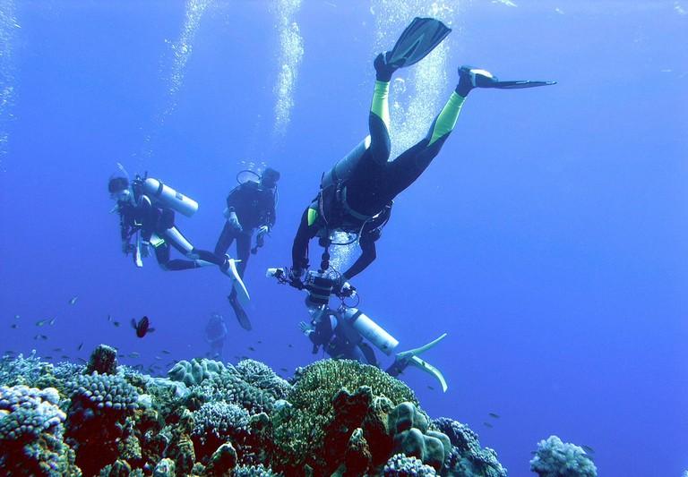 Exploring the barrier reefs of Layang Layang Island