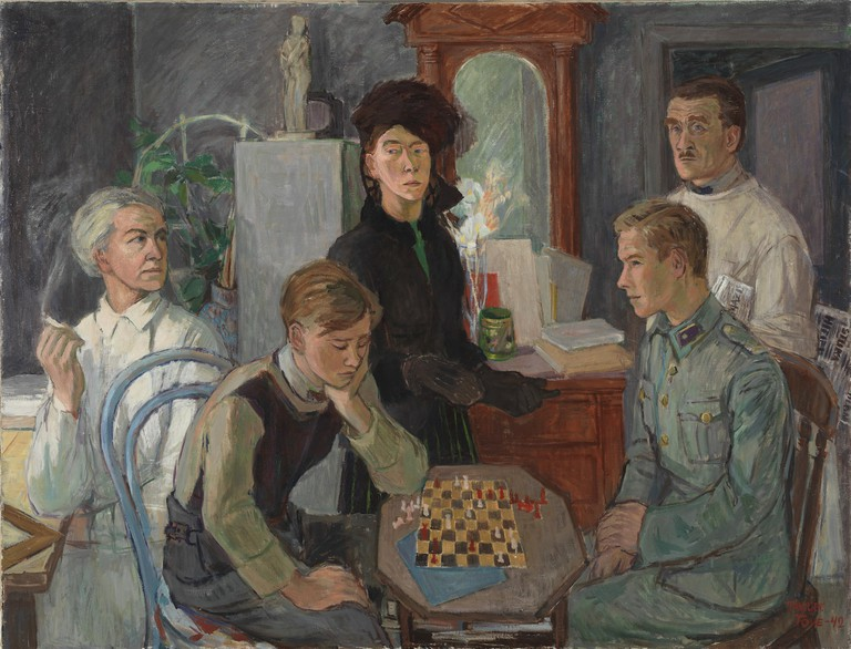 Tove Jansson, 'Family', 1942 | Private Collection. Photo: Finnish National Gallery / Hannu Aaltonen.