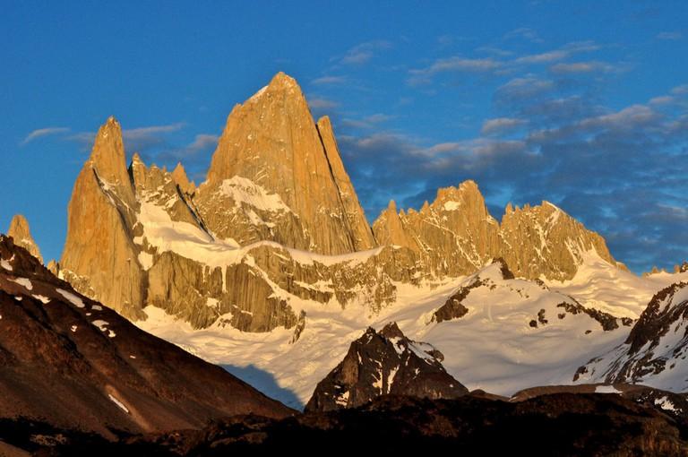 Cerro Fitz Roy at sunrise