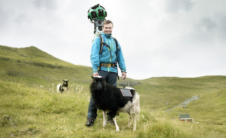A Google Street View worker with a co-worker...but which is which?? |Courtesy of visitfaroeislands.com