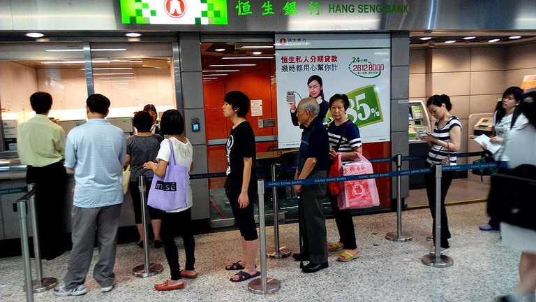 Hong Kong queue