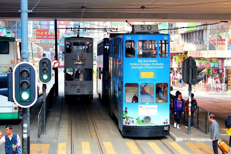 Hong Kong Road Photography Street Transport Tram