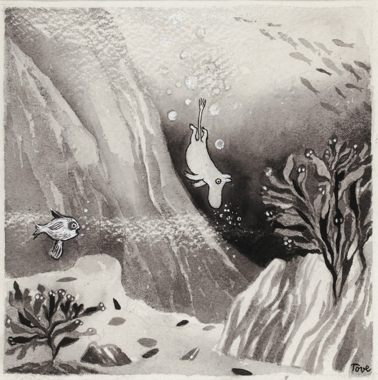 Tove Jansson, illustration for the book 'Comet in Moominland', 1946