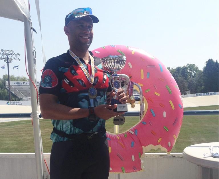 Yasir Salem prides himself in defending his Tour de Donut titles