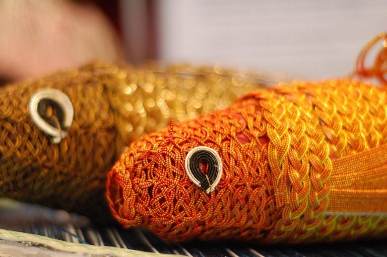 Japanese Paper Weaving at the Cherry Blossom Festival | © Samantha Levang / Flickr