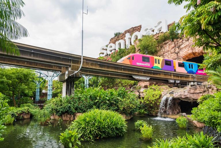 Sentosa Island monorail train, Sentosa, Singapore