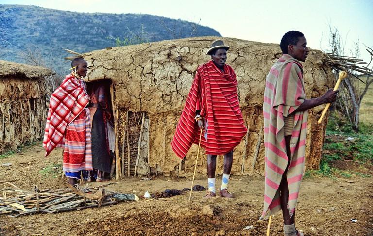 A traditional Masaai hu