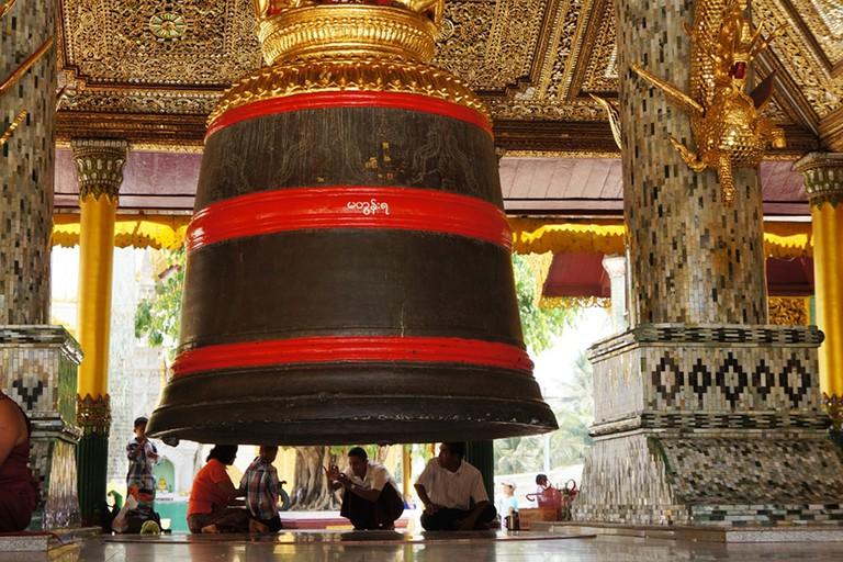 Large-Temple-Bell-in-Myanmar