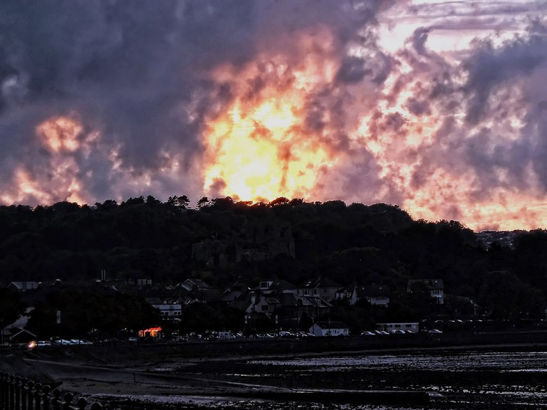 Mumbles castle and bay.