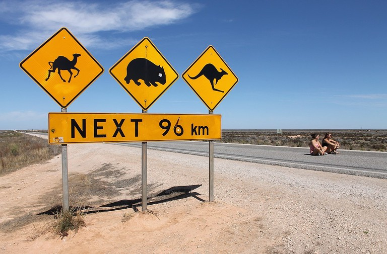 Nullarbor warning signs | © Bahnfrend_Wikimedia Commons
