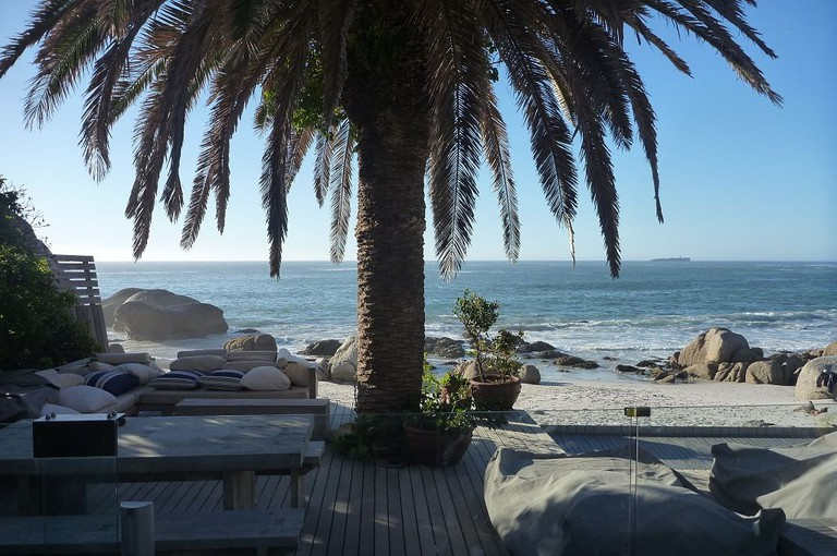 On the beach in Clifton, Cape Town