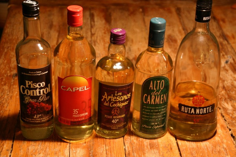 Pisco-bottles-Chile