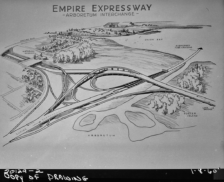 R. H. Thomson Freeway Plans | © Seattle Municipal Archives / Flickr