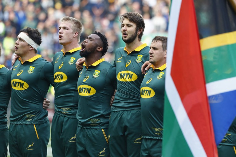 South African Rugby Players Sing National Anthem | © NIC BOTHMA/EPA-EFE/REX/Shutterstock