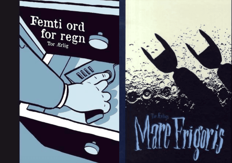 "Tor Ærlig's ""Femti ord for regn"" and ""Mare Frigoris"" 