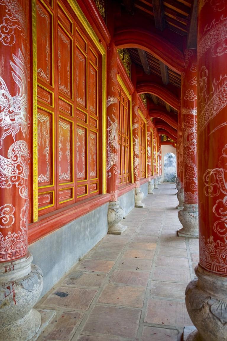 Exterior of the Hai Ba Trung Temple   @ Peter Stuckings/Shutterstock