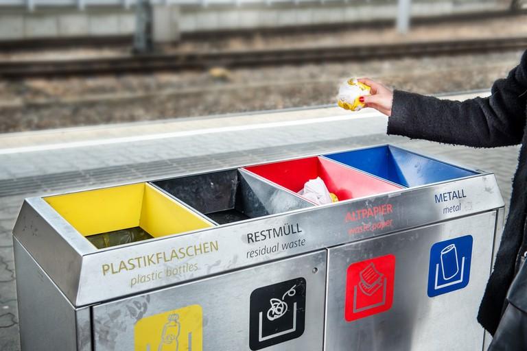 Waste bins, Germany