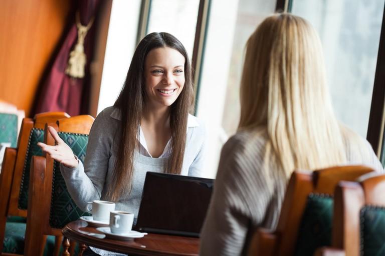 Friends in a café