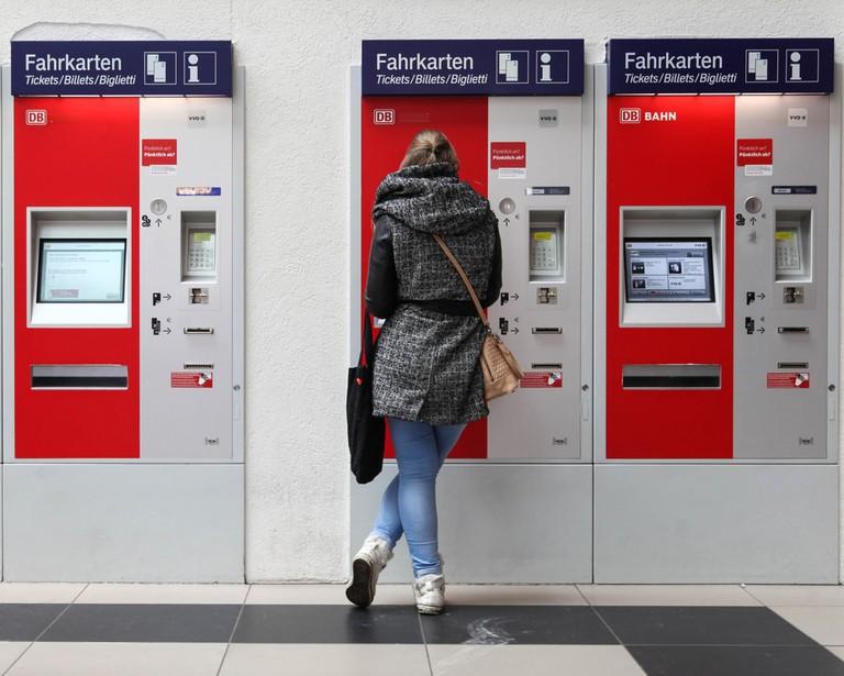 Train ticket machine, Germany