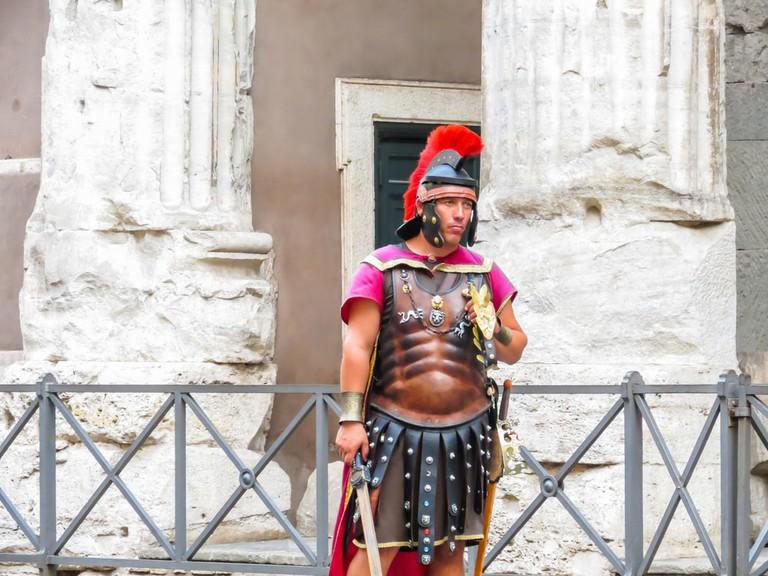 Street actor representing the Roman soldier | ©Arndale/Shutterstock