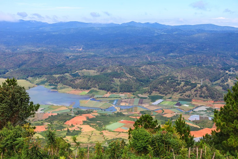 Colorful fields below Lang Biang | © Big Pearl/shutterstock