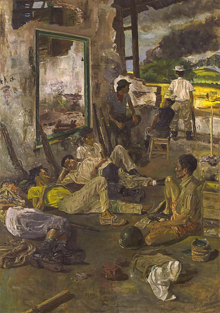 Sindudarsono Sudjojono - Ngaso - 1964