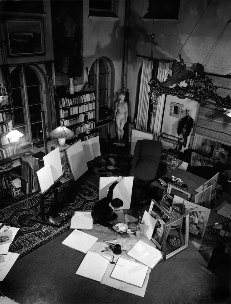 Tove Jansson in her studio | © Per Olov Jansson