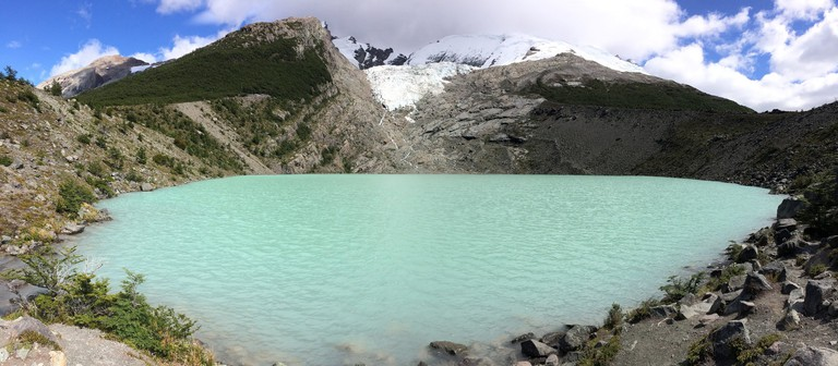 Huemul Glacier and lagoon