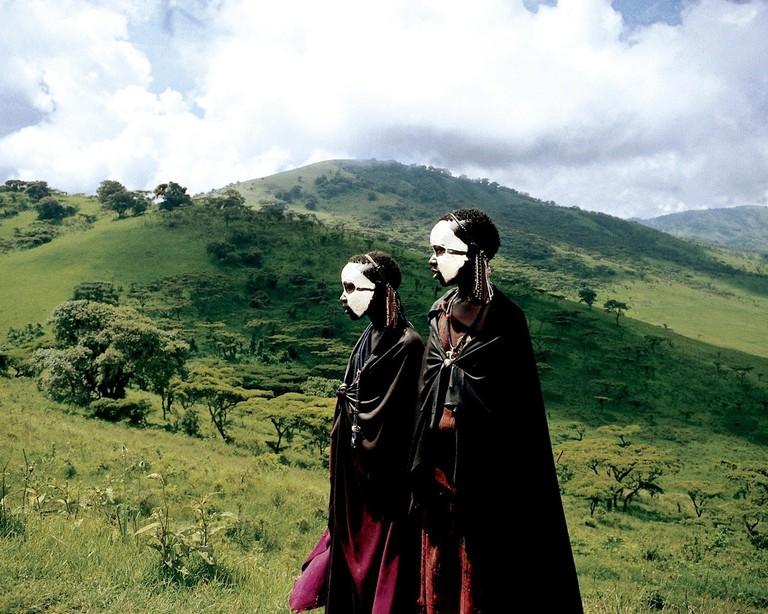 Masaai boys before their initiation