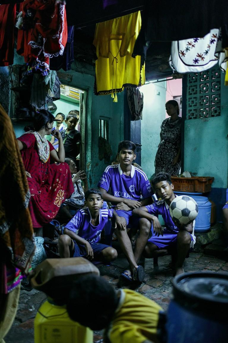 Charlie Clift, 'Football kids of Kolkata 10 Years of Premier Skills', 2016 | © Charlie Clift
