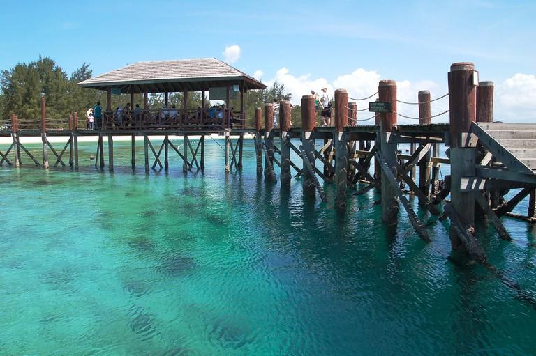 Turquoise waters of Manukan Island