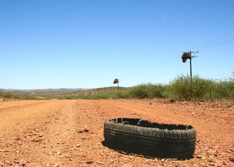 Burst tyre