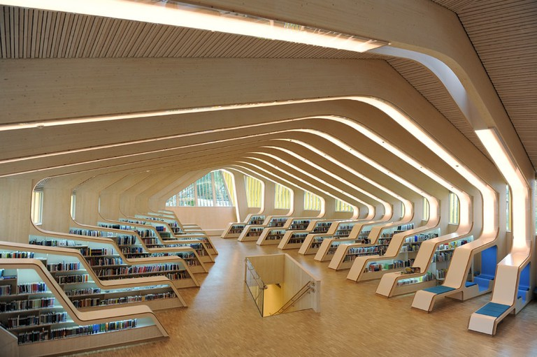 Vennesla Library | © Erieta Attali, Courtesy of Helen & Hard