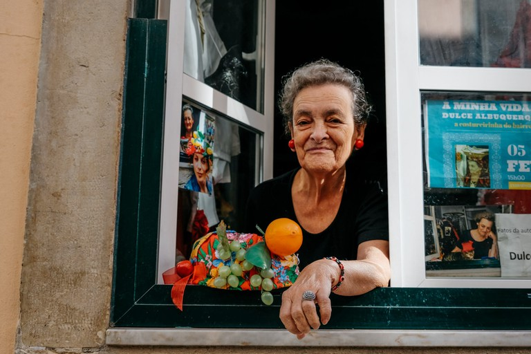 Watson - Portugal - Lisbon- Seamstress Dulce Albuquerque at her home in Bairro Alto