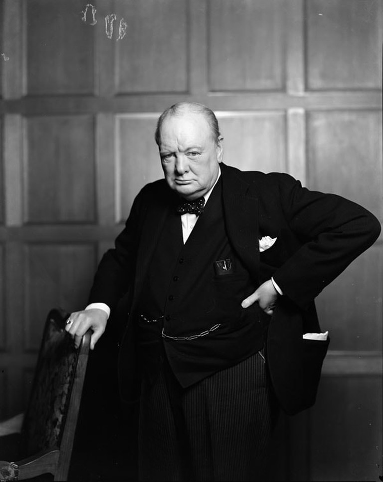 Winston Churchill cigar shot by Yousuf Karsh