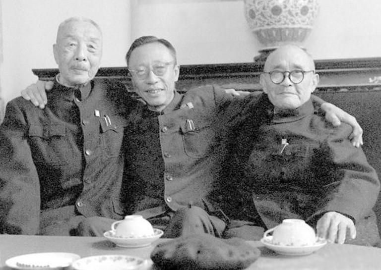 Xiong_Bingkun,_Puyi_and_Lu_Zhonglin