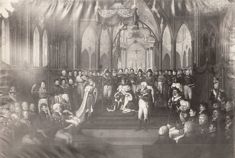 1024px-Carl_Johans_kroning_7_september_1818_Coronation_of_general_Jean_Baptiste_Bernadotte_as_king_Karl_III_Johan_of_Norway_(1818)_(2718923409)