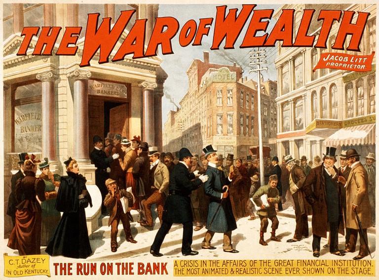 War of Wealth By Strobridge & Co. Lith.   Public Domain, via WikiCommons
