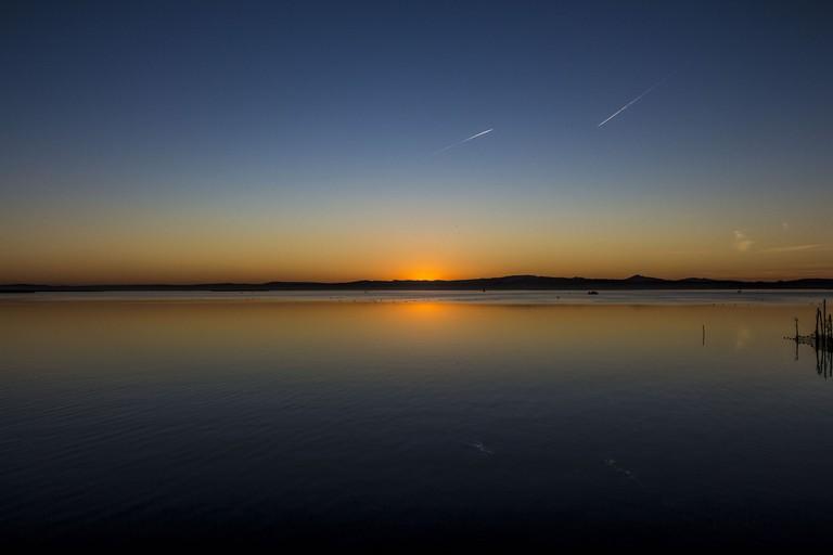 Sunset over L'Albufera lake, Valencia