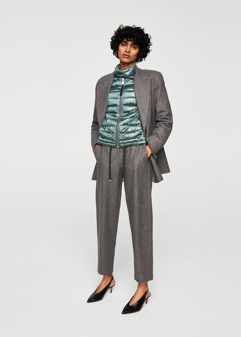 Mango wool-blend suit jacket and trousers, from £69.99