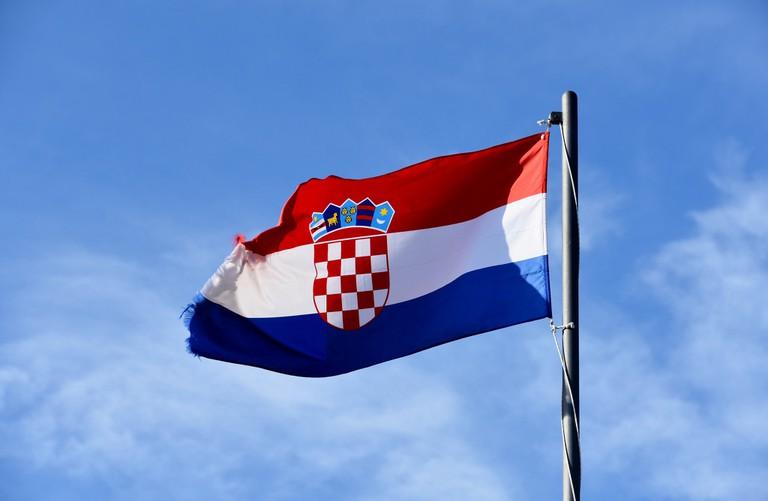 Croatian flag | © Richard Mortel/Flickr
