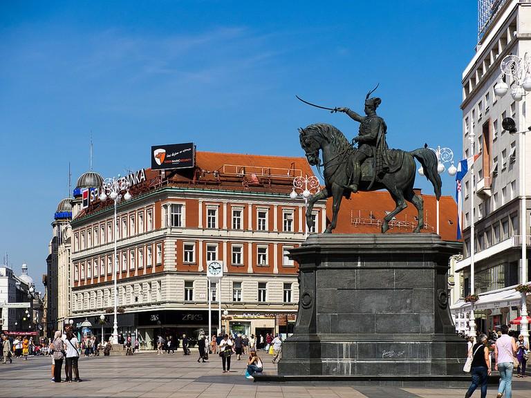 Ban Josip Jelačić statue, Zagreb   © Ray Kim/Flickr