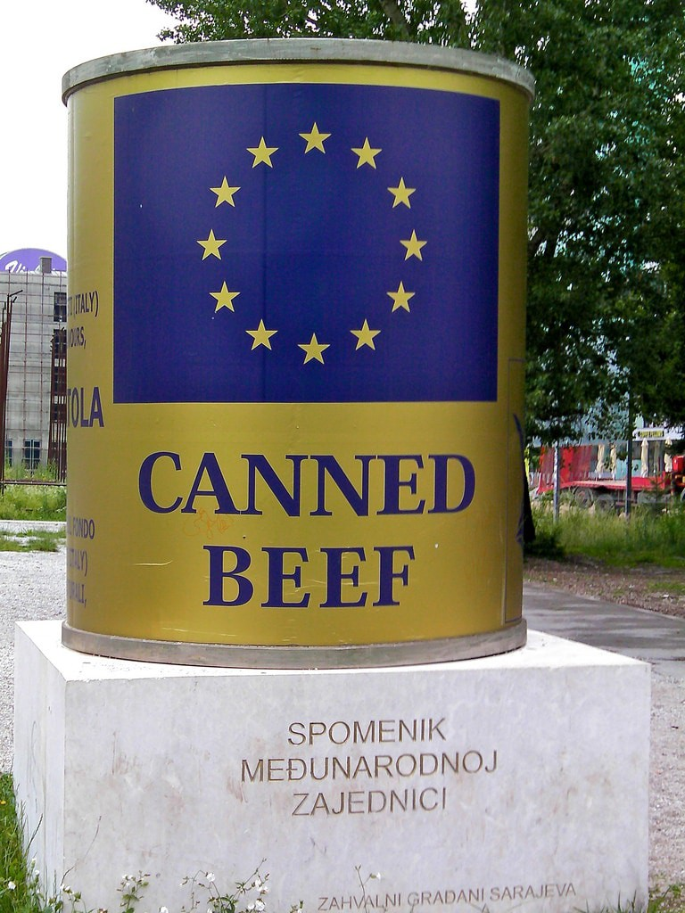 Canned Beef ICAR Sarajevo   © Tony Bowden/Flickr