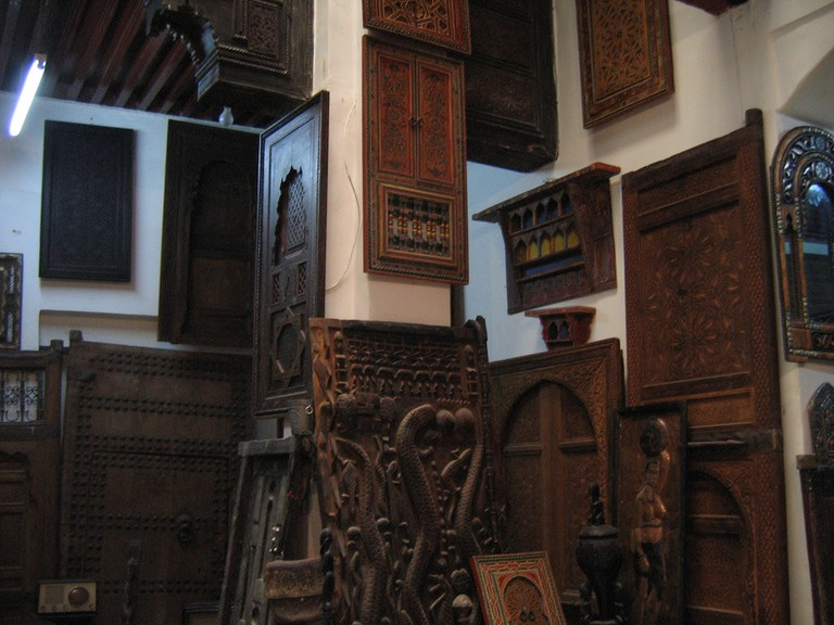Woodwork in Meknes