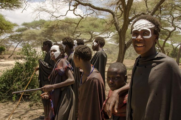 Massai boys